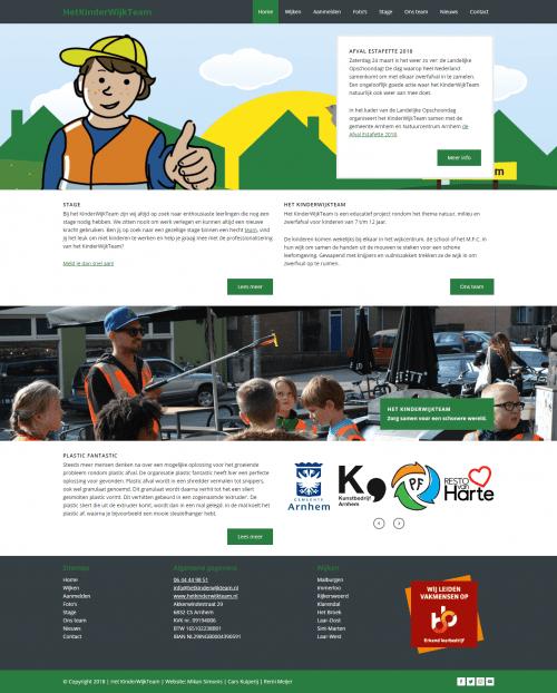 Mikan Simonis | Web portfolio | Het KinderWijkTeam