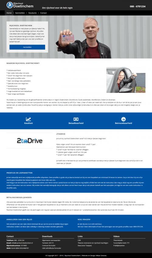 Mikan Simonis | Web portfolio | Rijschool Doetinchem